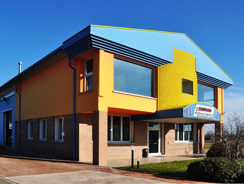 01 Studio Architettura Zanatta - Pizzolato Materiali edili Padiglione -  Villorba - Treviso