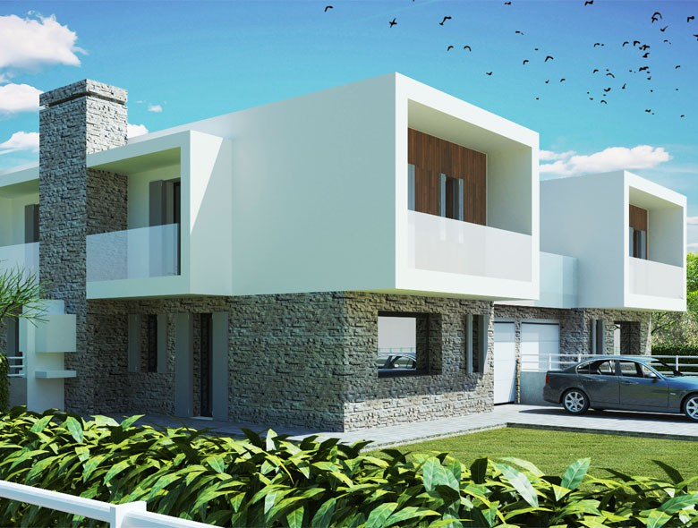 Studio architettura zanatta vendita diretta di immobili for Ville bifamiliari moderne