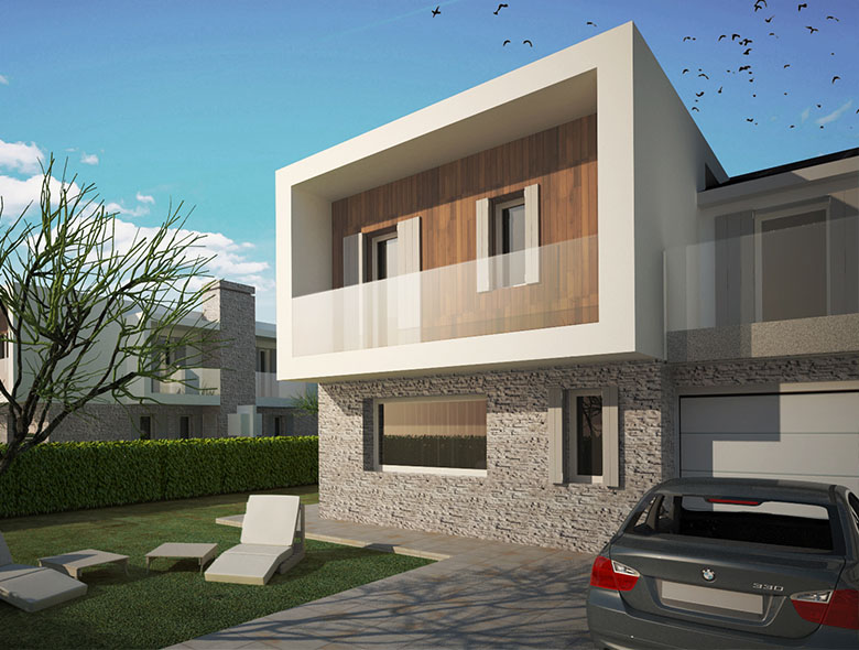 Studio architettura zanatta ville moderne in classe a for Architettura ville moderne